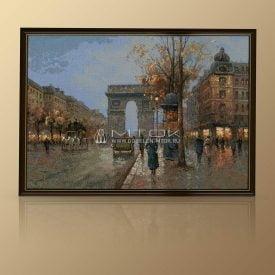 """Картина из гобелена """"Вечерний Париж"""""""