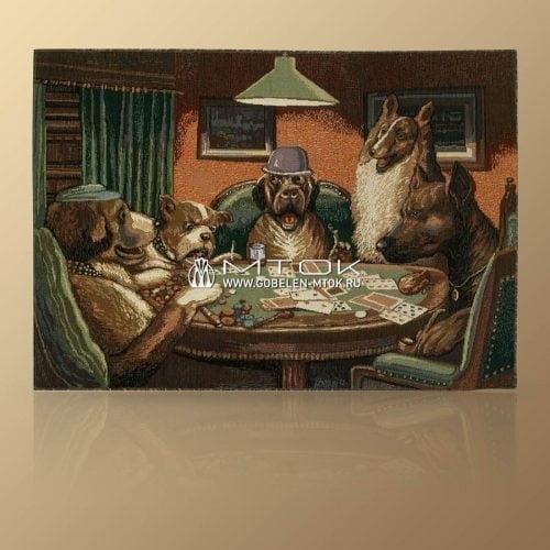"""Картина из гобелена """"Покер"""""""