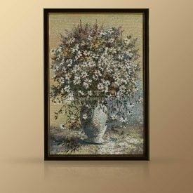 """Картина из гобелена """"Букет полевых ромашек"""""""