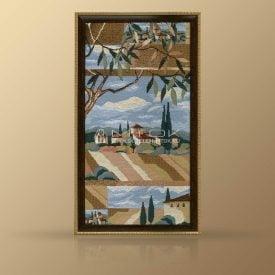 "Картина из гобелена ""Пейзаж с оливами"""