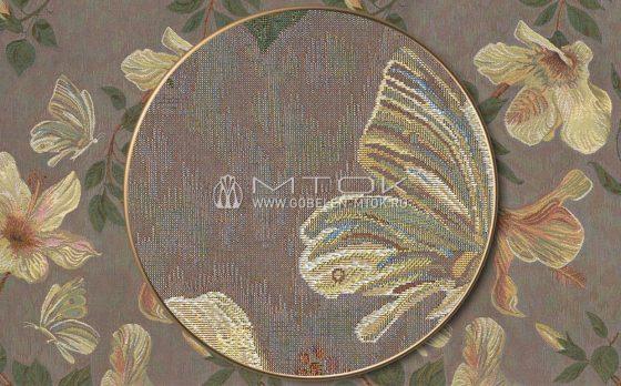 Жаккардовая ткань «Гибискус»