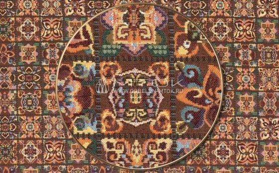 Жаккардовая ткань «Цветочная мозаика»