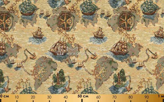 Жаккардовая ткань «Кораблики»