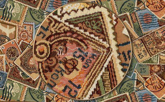 Жаккардовая ткань «Марки»