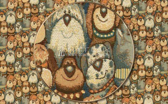Жаккардовая ткань «Собачки»