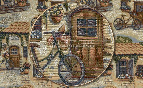 Жаккардовая ткань «Велосипеды»