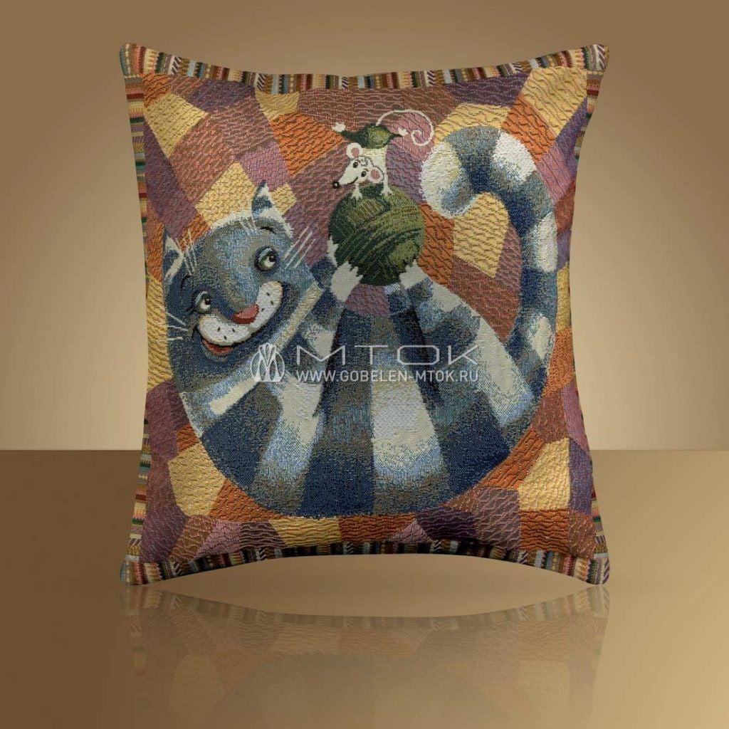 Чехол на подушку «Кот полосатый»