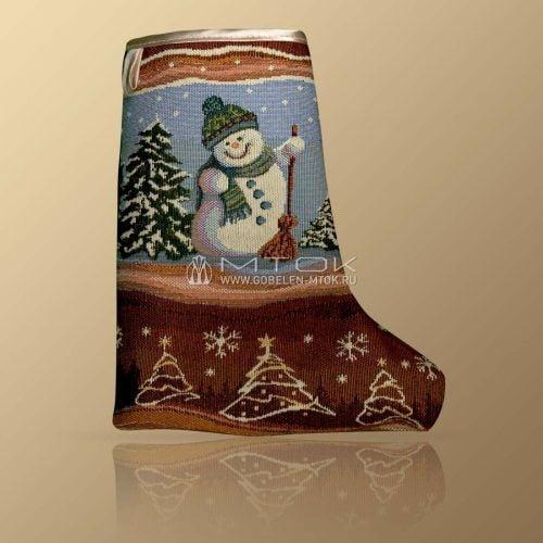 Сапожок новогодний «Танец снеговиков»