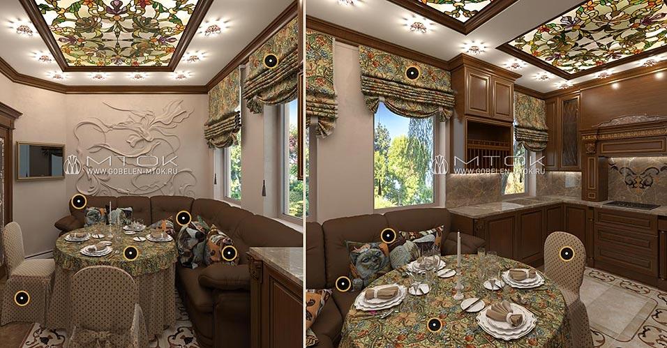 Ткани для декорирования интерьера кухни