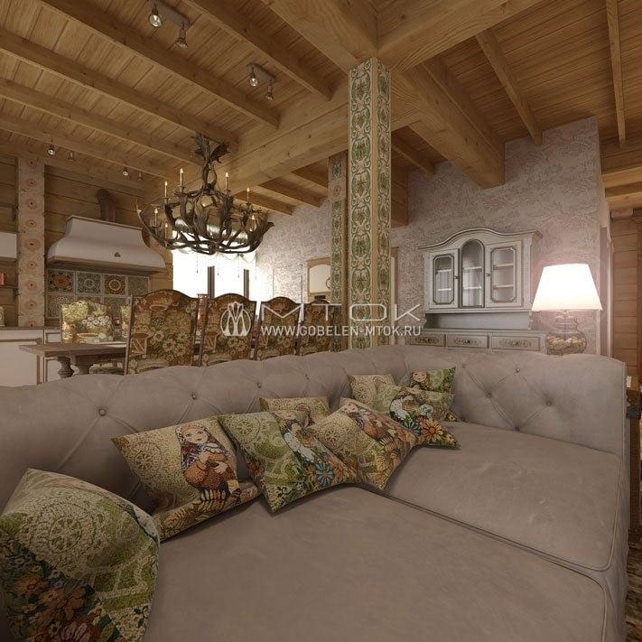 Дизайн интерьера в стиле кантри с модным текстилем