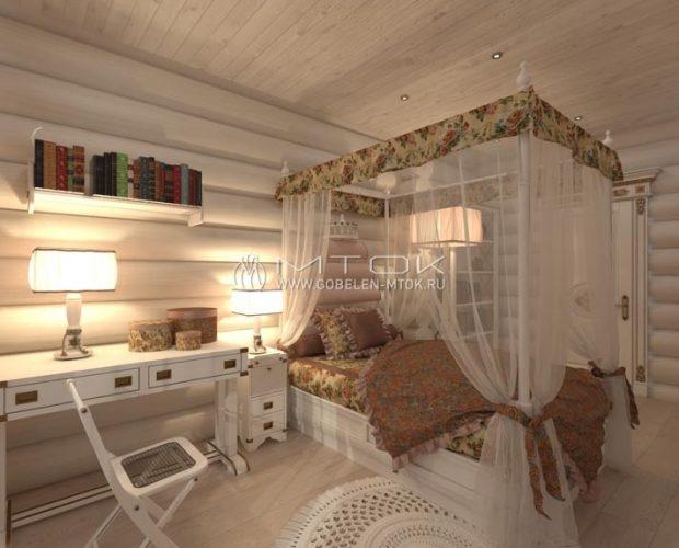 Интерьер спальни в стиле кантри