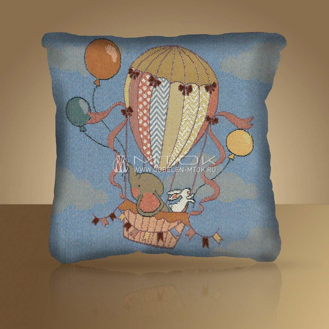 "Декоративная наволочка на подушку с детским рисунком ""Воздушный шар"""