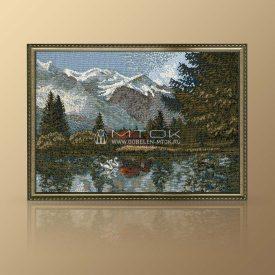 """Картина из гобелена """"Озеро"""""""