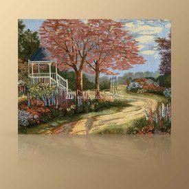 "Картина из гобелена ""Розовый сад"""