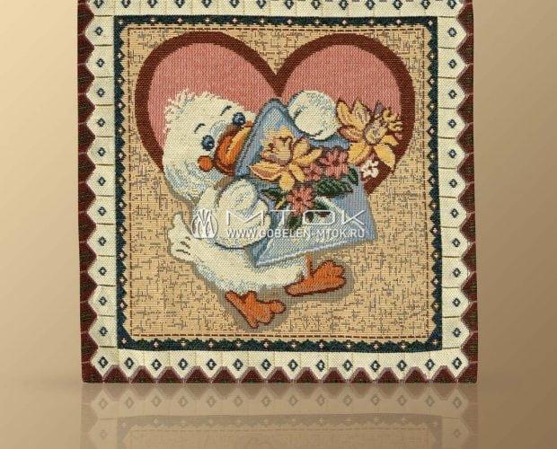 Гобеленовая салфетка с детским тематическим рисунком