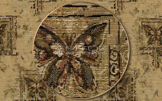"Раппорт: Ткань жаккардовая ""Бабочки меланж"""