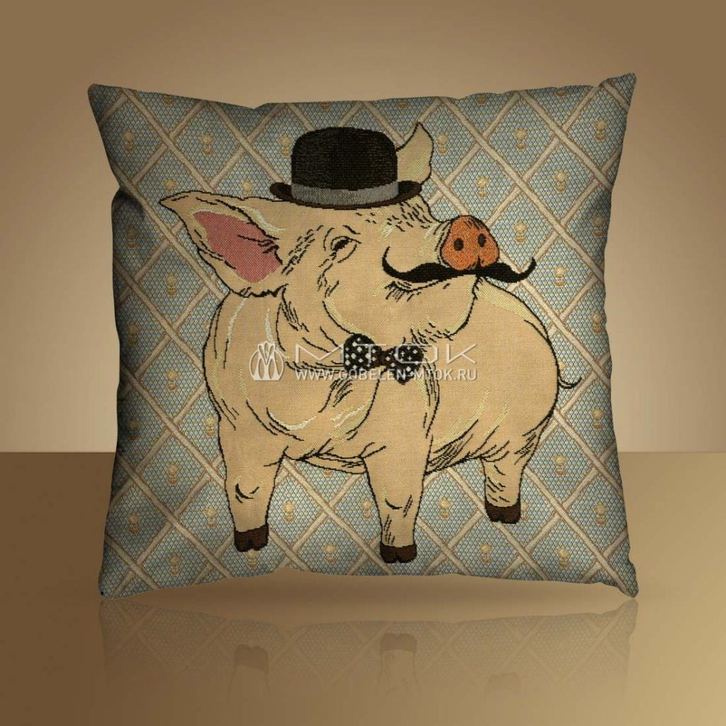 Идеи подарков на новый год. Гобеленовый чехол на подушку «Пуаро»