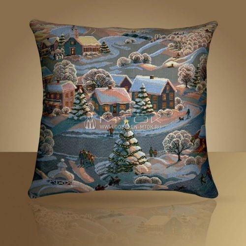 Идеи подарков на новый год 2019. Гобеленовый чехол на подушку «Вечера на хуторе»