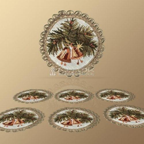 Идеи подарков на новый год. Набор гобеленовых салфеток «Настроение Рождества»