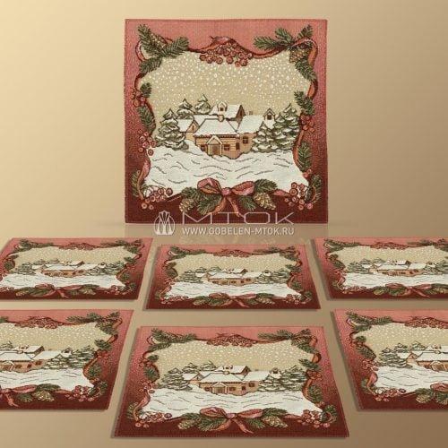 Идеи подарков на новый год. Набор гобеленовых салфеток «Зимняя сказка»