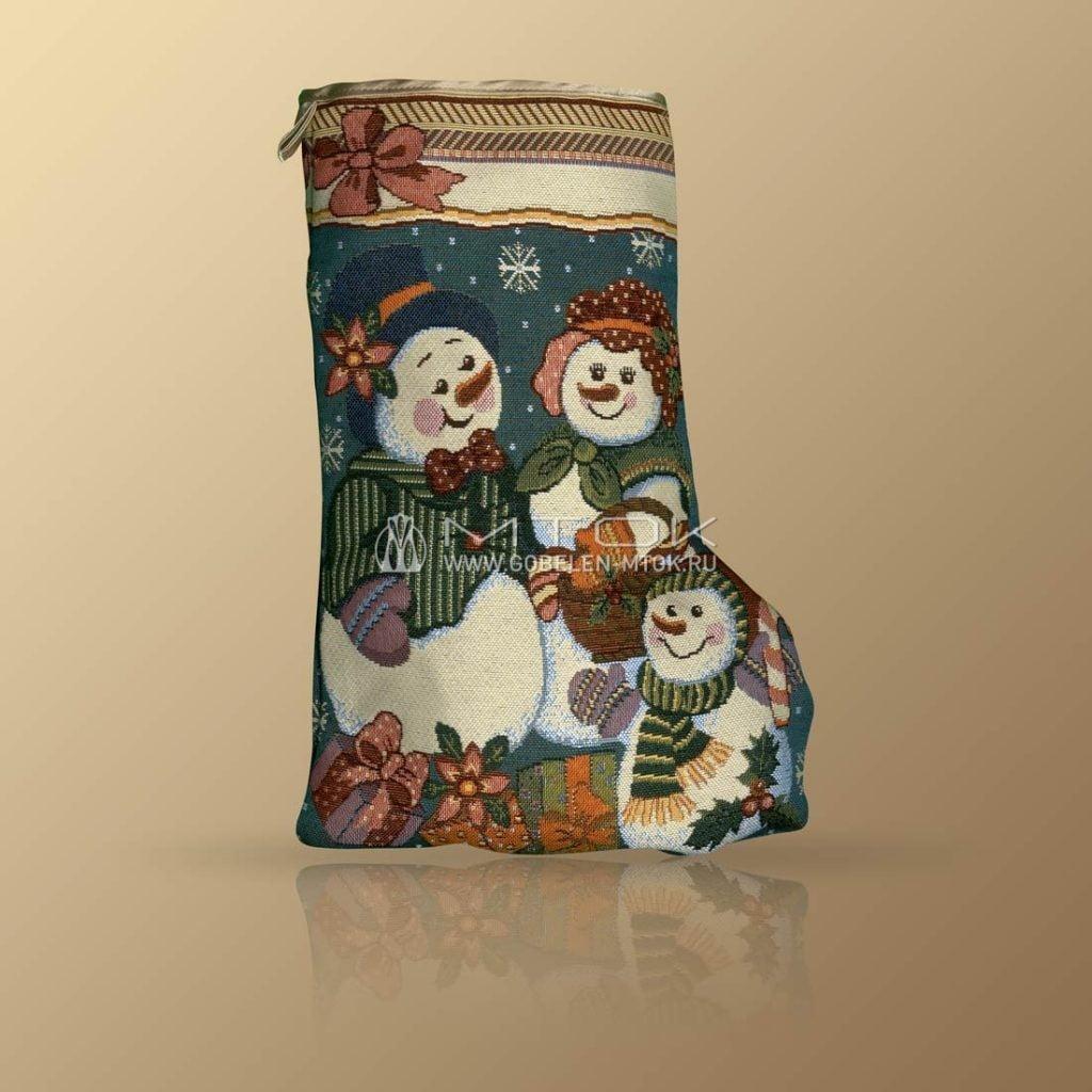 Идеи подарков на новый год детям. Сапог новогодний «Семейка снеговиков»