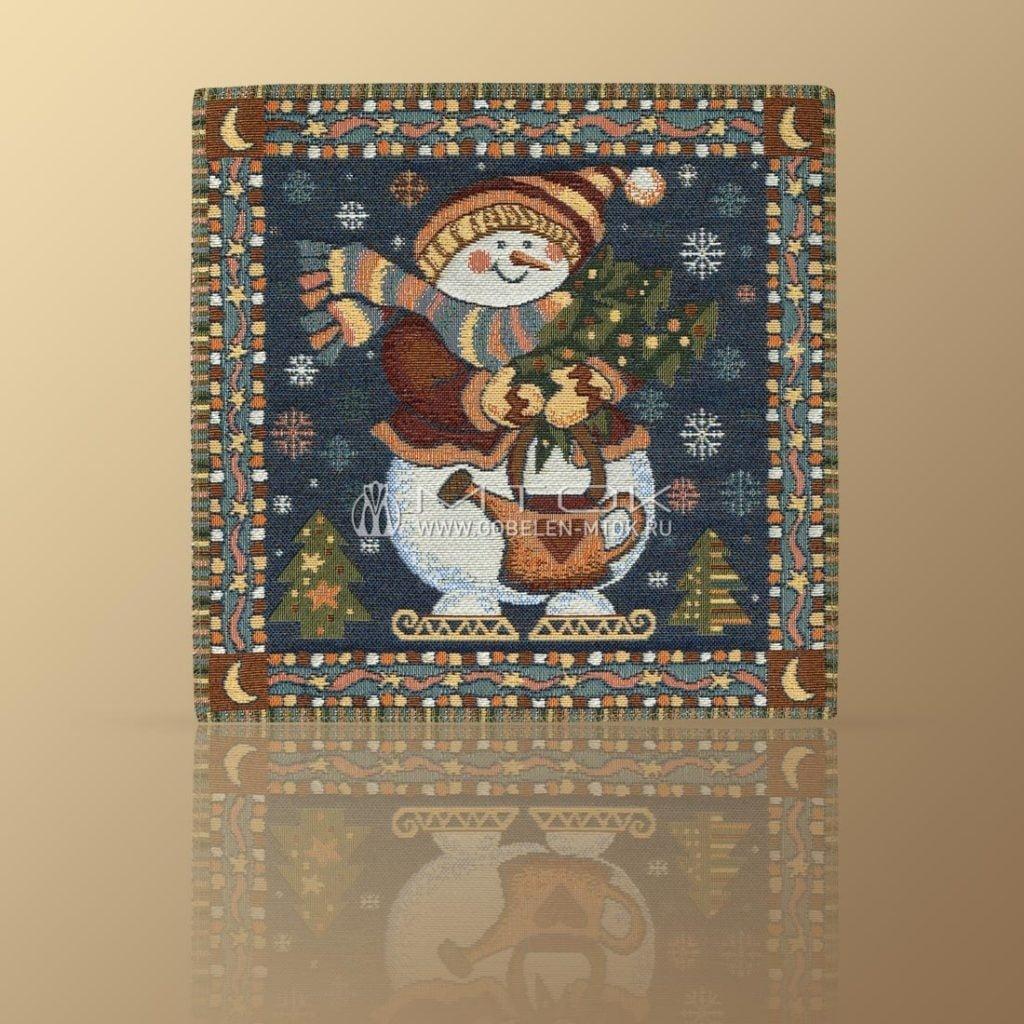 Идеи подарков на новый год детям. Салфетка гобеленовая «Снеговик»