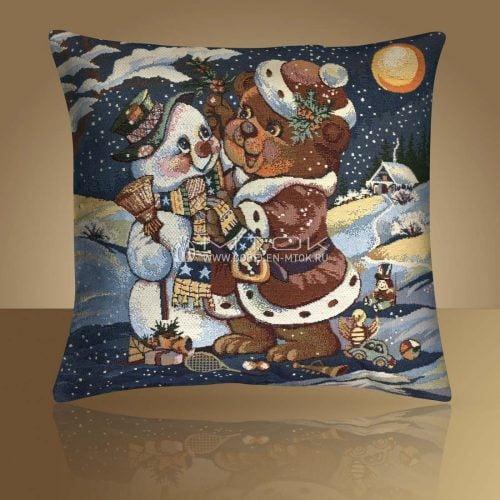 Идеи подарков на новый год. Гобеленовый чехол на подушку «С новым годом»