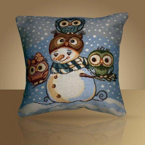 Идеи подарков на новый год. Гобеленовый чехол на подушку «Совенок»