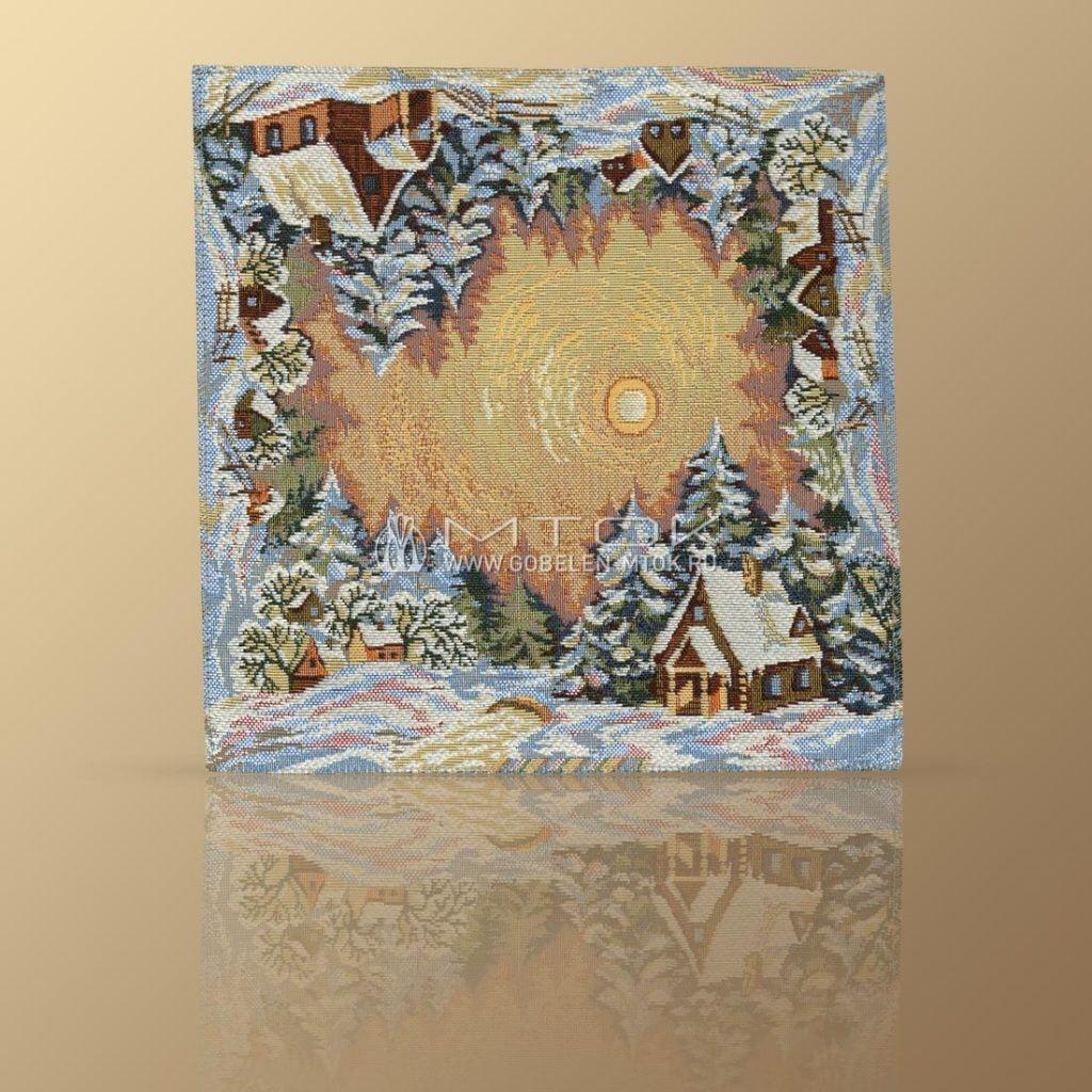 Идеи подарков на новый год. Гобеленовая салфетка «Зимние узоры»