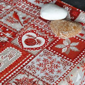 """Комплект салфеток из гобелена """"Новогодний орнамент"""" (4 штуки, квадрат)"""