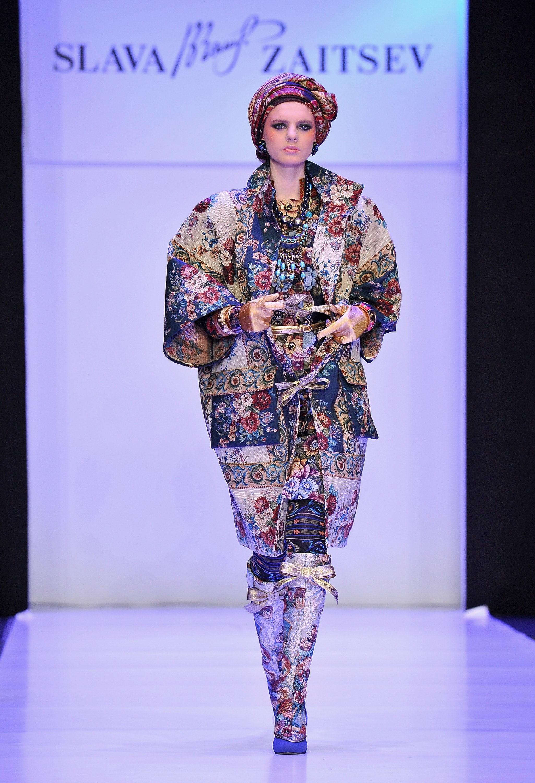 Гобеленовое пальто из коллекции Вячеслава Зайцева