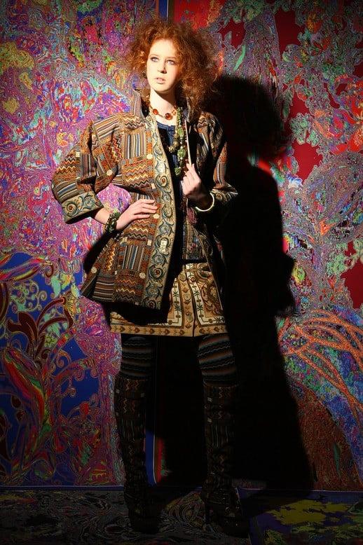Женский комплект одежды в стиле бохо из коллекции Вячеслава Зайцева