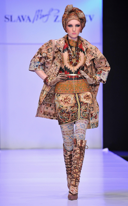 Комплект женской одежды boho style из коллекции Вячеслава Зайцева