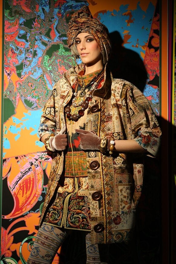 Пальто boho style с деревянными пуговицами из коллекции Вячеслава Зайцева