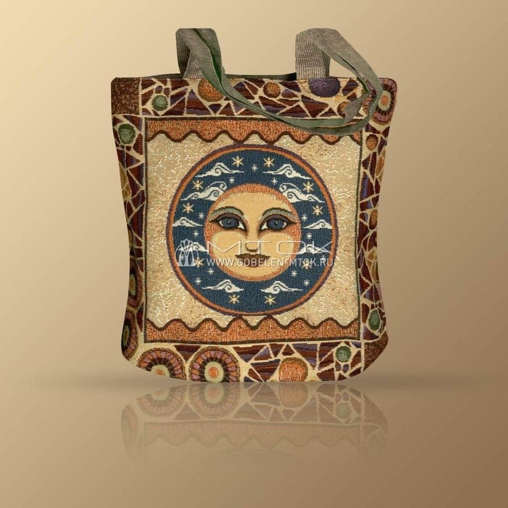Гобеленовая сумка в стиле бохо «Солнце-Луна»
