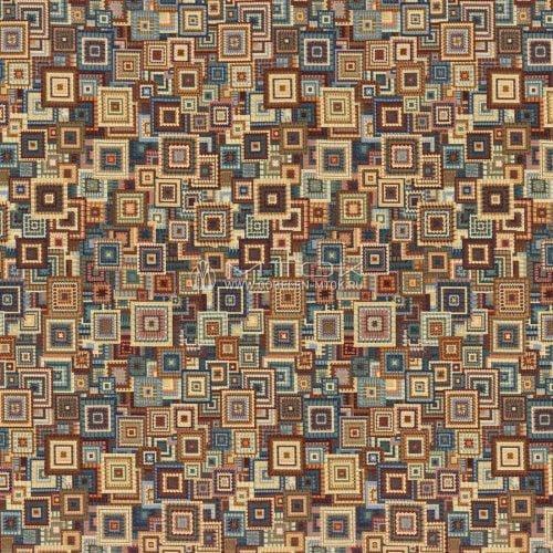 Ткань жаккардовая в стиле бохо «Геометрический коллаж»
