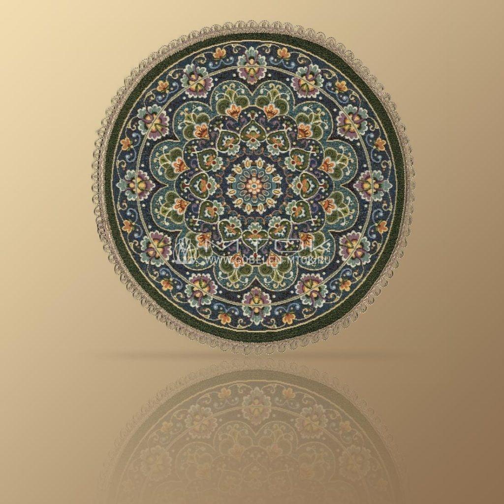 Гобеленовая салфетка в стиле бохо «Синие узоры»