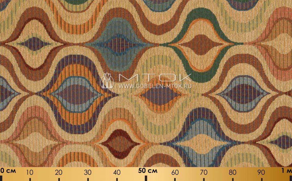 Жаккардовая ткань «Радужная волна»