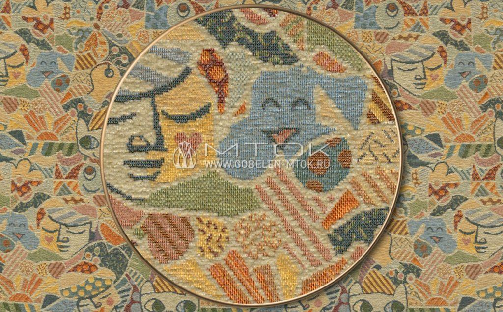 Жаккардовая ткань «Пикассо шенилл»