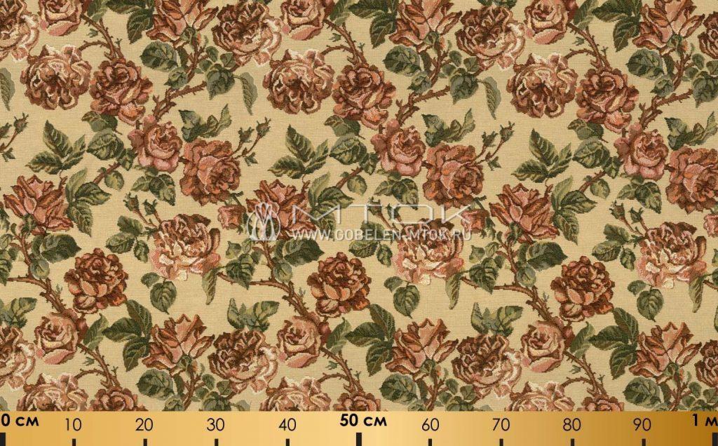 Обивочная ткань шенилл «Старинные розы»