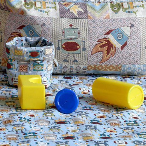 """Коврик-мешок для игрушек из гобеленовой ткани """"Робот"""" и """"Мульти робот"""""""