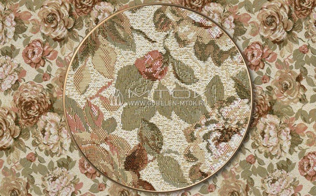 Дизайн мебельной ткани «Голландские цветы»
