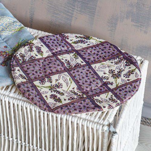 Подушка декоративная круглая из гобелена