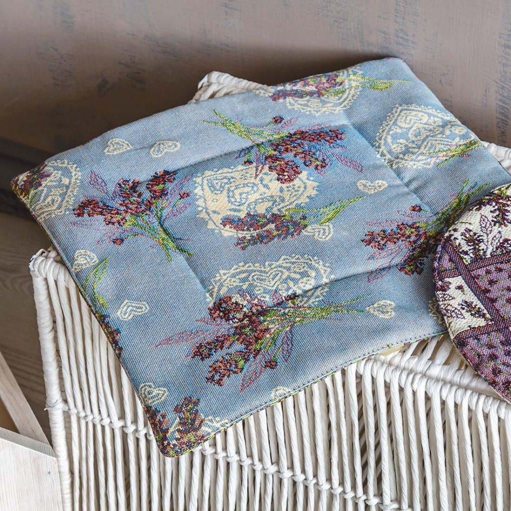 Подушка на стул из гобелена «Лаванда»
