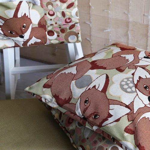Чехол на подушку из гобелена «Лисята»