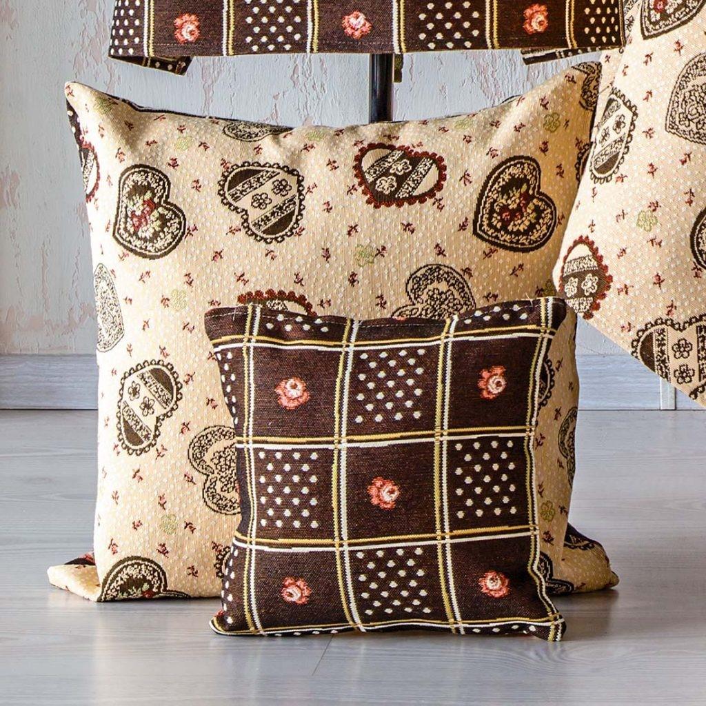 Чехол на подушку из гобелена «Парижская кухня»
