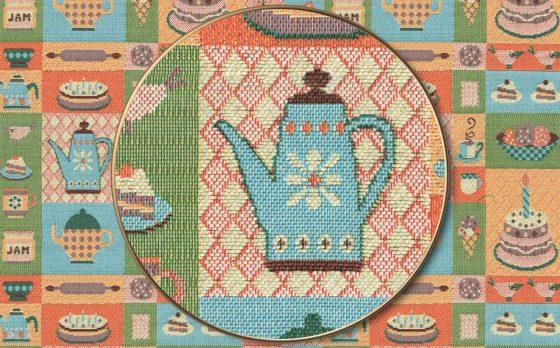 "Раппорт: Ткань жаккардовая ""Мятный чай десертная"""