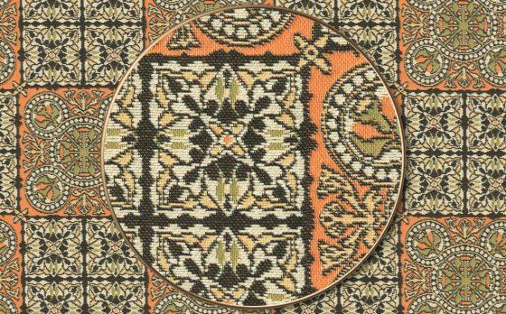 """Раппорт: Ткань жаккардовая """"Византийский орнамент"""""""