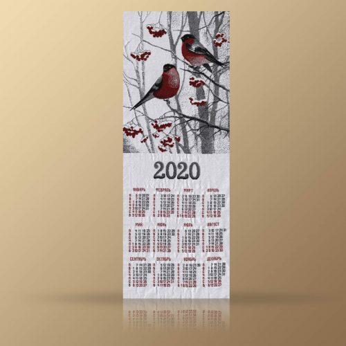 "Календарь из гобелена на 2020 год ""Снегири"""