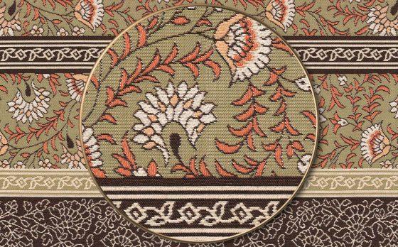 """Раппорт: Ткань жаккардовая """"Византийский орнамент полоса"""""""